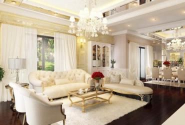 Thiết kế phòng khách cổ điển đẹp chuyên nghiệp